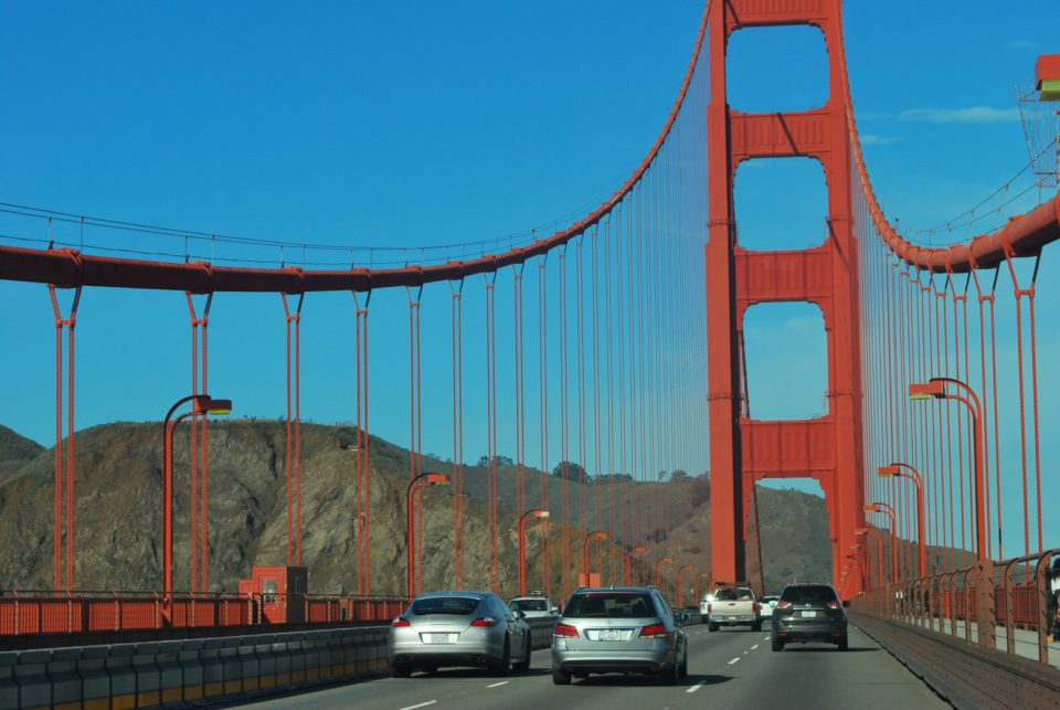 Auf der Golden Gate Bridge