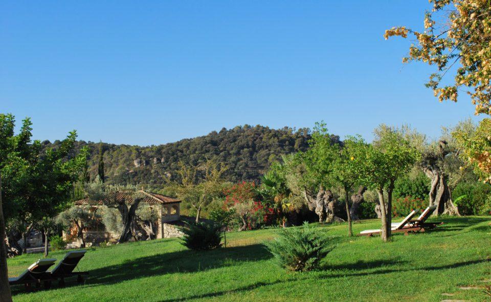 Garten der Finca Mallorca