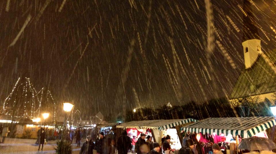 Schnee in Burghausen