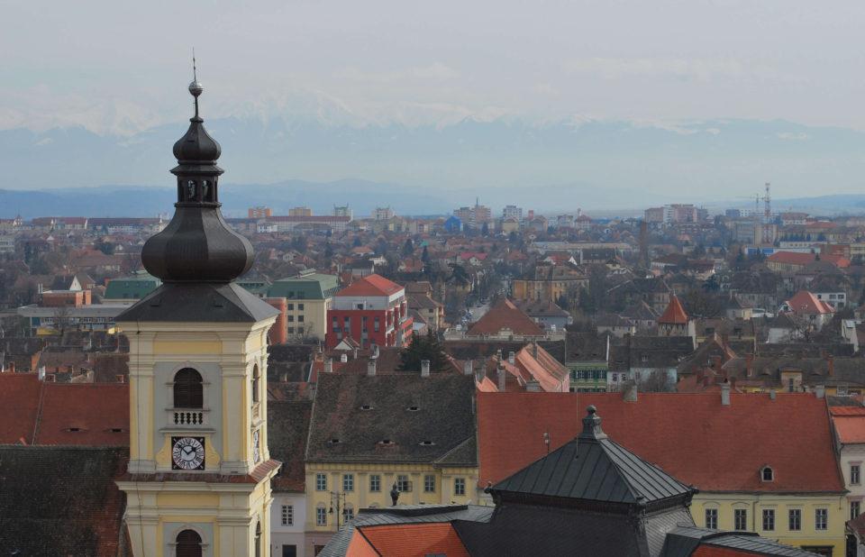 Sibiu Hermannstadt Kirchturm