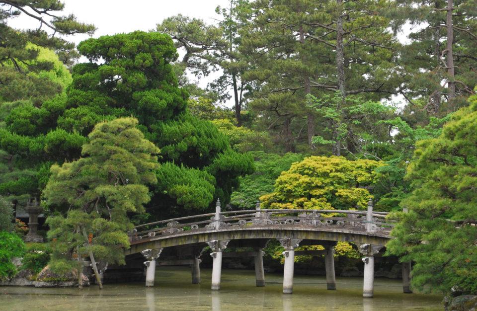 Kaiserpalast von Kyoto garten