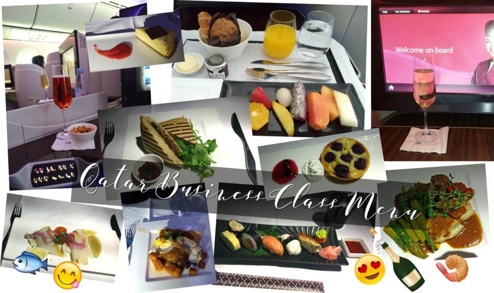 qatar business class menu