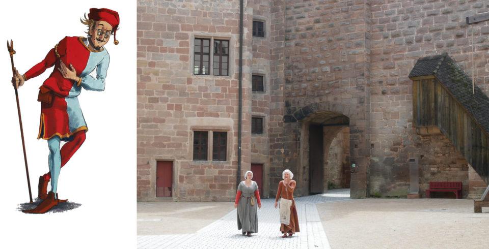 Cadolz und Burgfräulein Cadolzburg