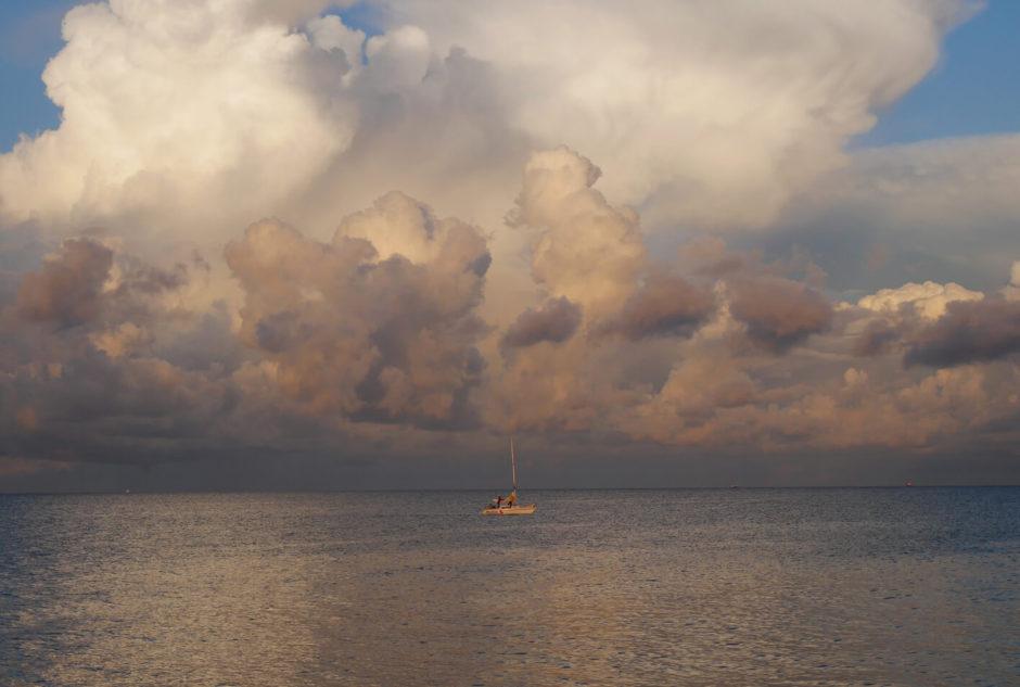 Zoppot Meer und Schiff