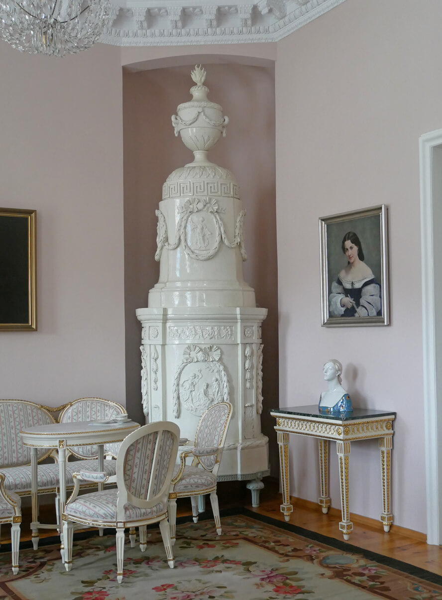 Schloss Rogalin Rosa Zimmer