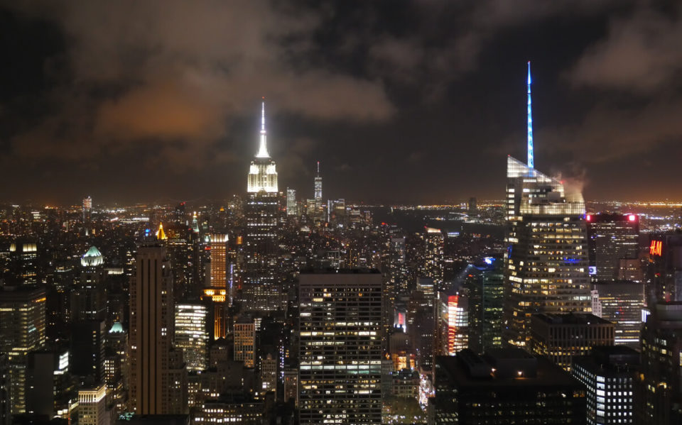 top of the rock night