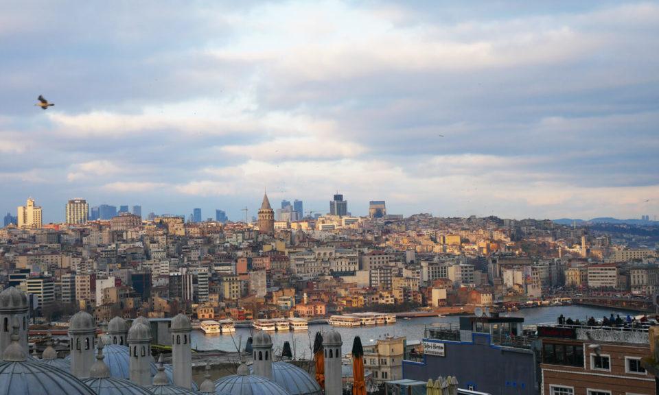Blick auf Galata Istanbul