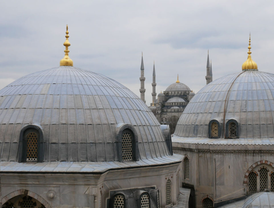 blaue moschee blick aus hagia sofia
