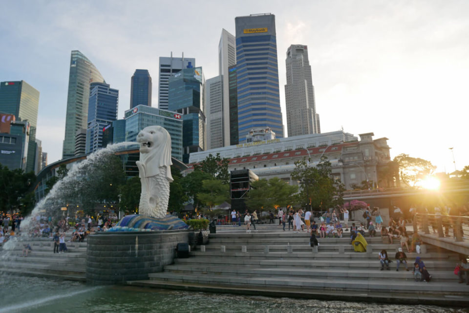 merlion sunsest