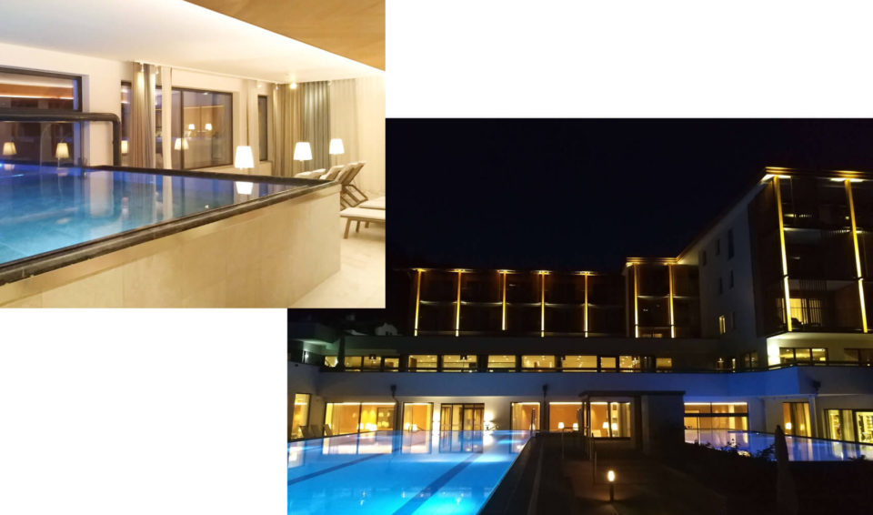 sporthotel hohe salve pools nacht