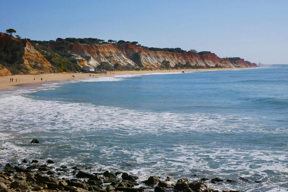 algarve praia da falesia aussicht