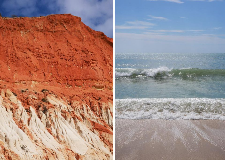 algarve steinküste rot