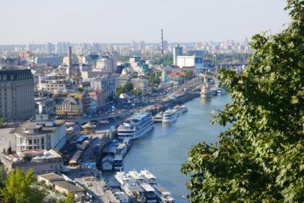 Kiew Fluss Ausblick